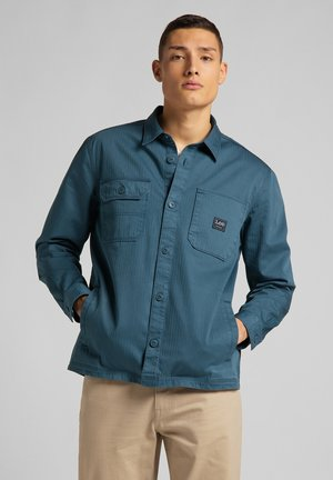 BOX POCKET - Camisa - teal