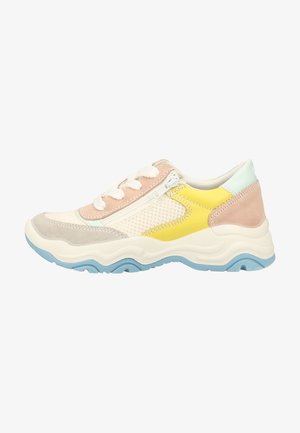 Sneakers - white/yellow/light pink