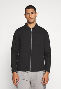 New Look - ZIP THRU  - Shirt - black - 0