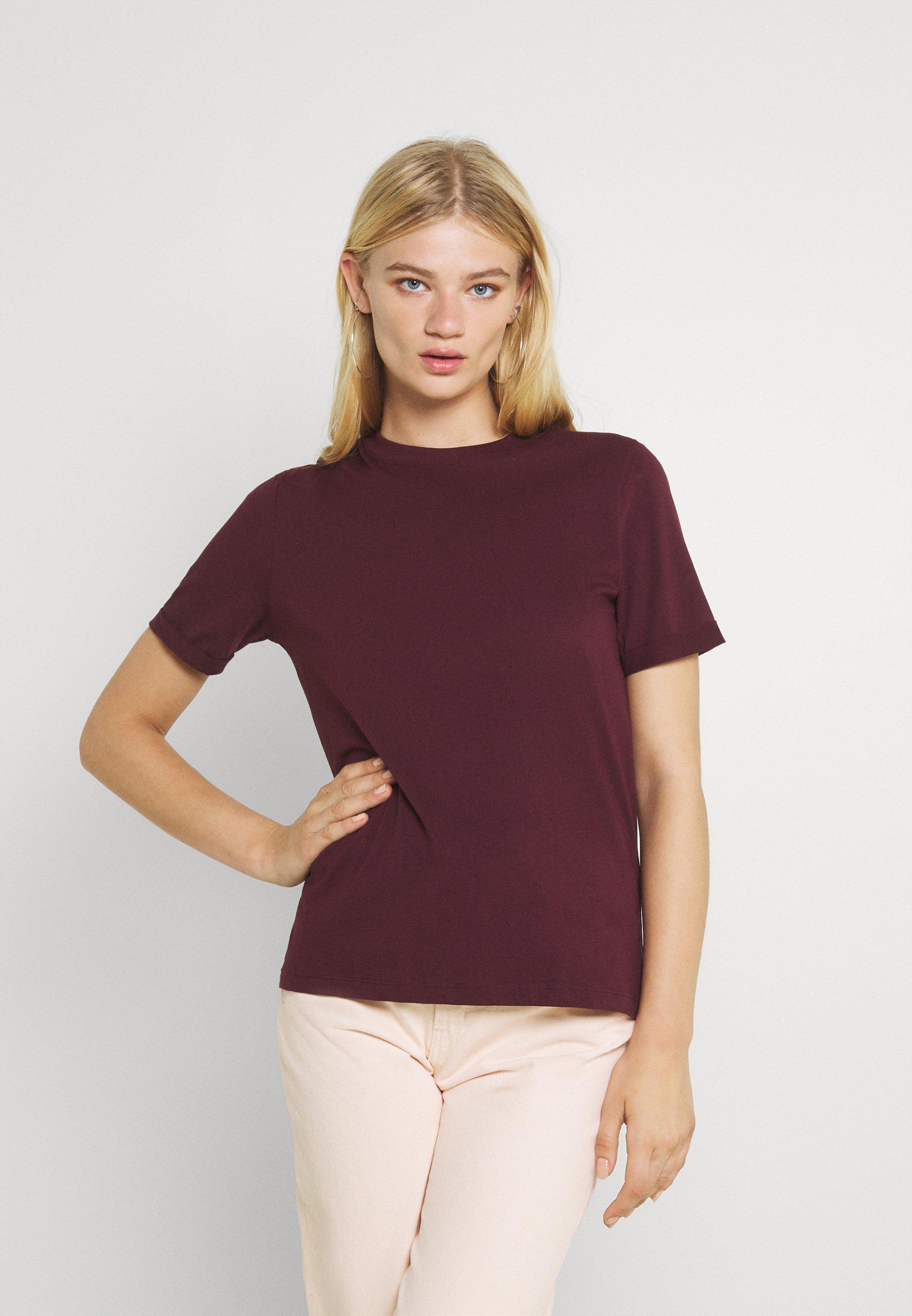 Damen PCRIA FOLD UP SOLID TEE - T-Shirt basic