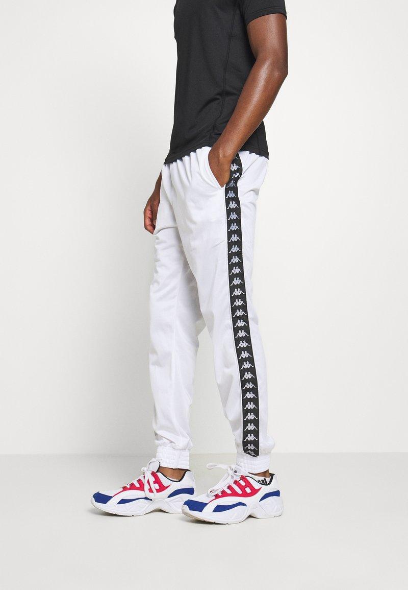 Kappa - HELGE PANT - Tracksuit bottoms - bright white