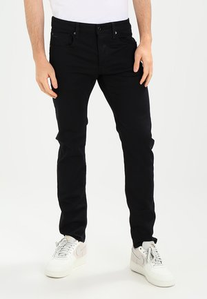 3301 SLIM - Jeansy Slim Fit - ita black superstretch
