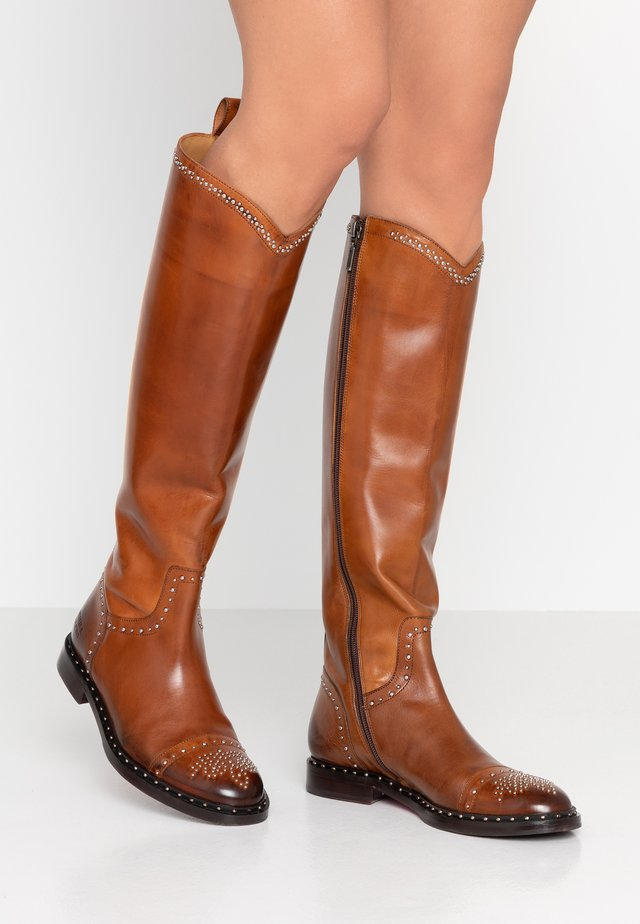 SALLY - Cowboy/Biker boots - wood