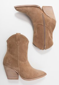 Lazamani - High heeled ankle boots - taupe - 3