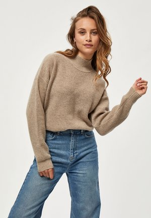 Sweter - sand melange