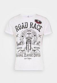 MOTORBIKE ROUND - T-shirt print - off-white