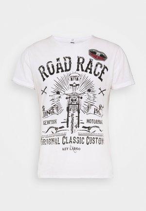 MOTORBIKE ROUND - T-shirts print - off-white