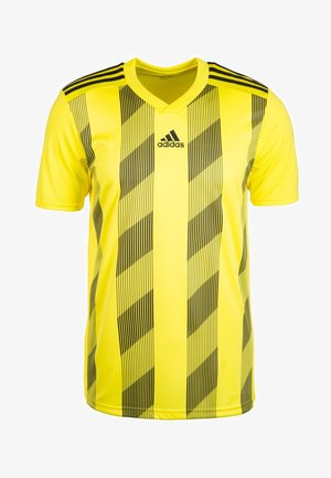 Print T-shirt - bright yellow/black