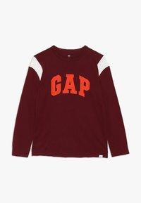 GAP - BOY LOGO TEE - Bluzka z długim rękawem - red delicious - 0