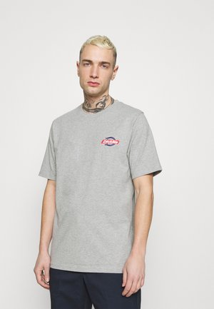 RUSTON TEE - T-shirt print - grey melange