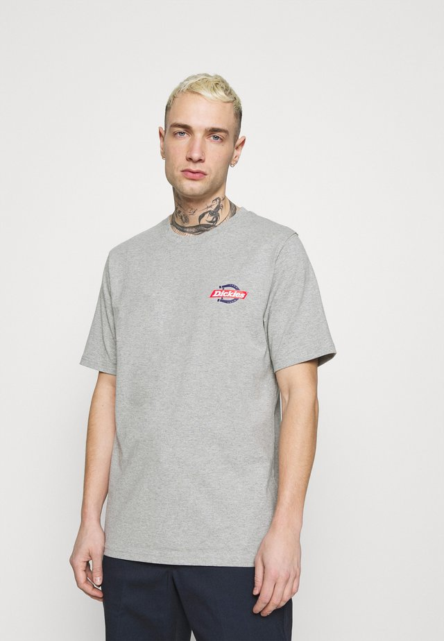 RUSTON TEE - T-shirt print - grey melange