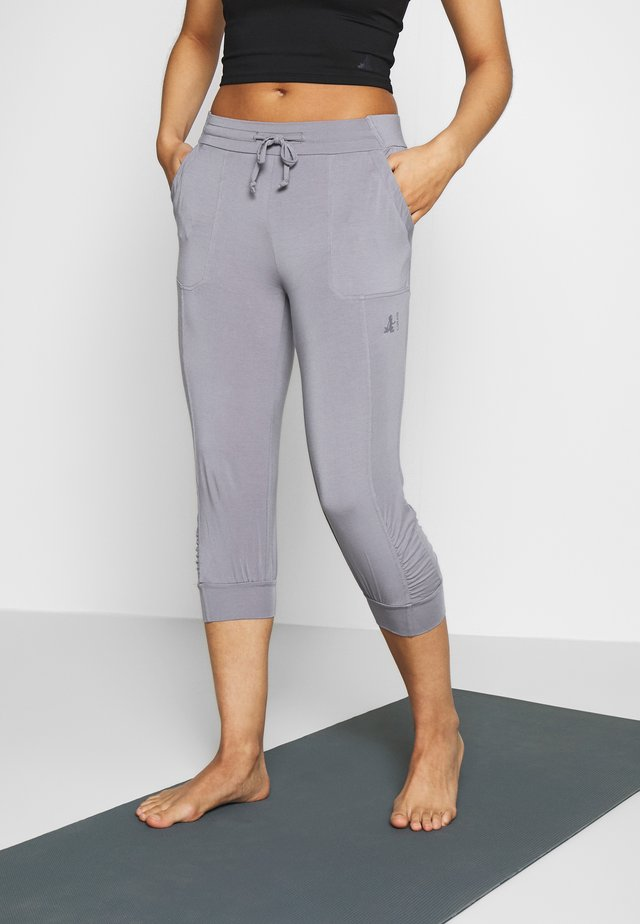 PANTS - Pantaloncini 3/4 - pearl grey