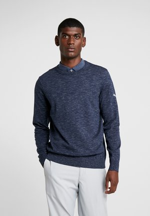 CREWNECK - Strikpullover /Striktrøjer - peacoat heather