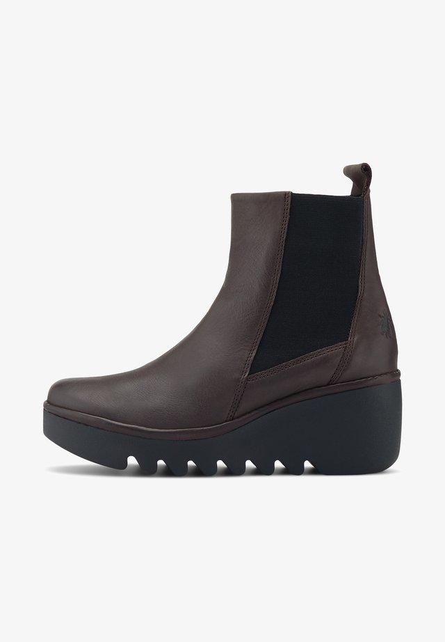 BAGU - Wedge Ankle Boots - dunkelbraun