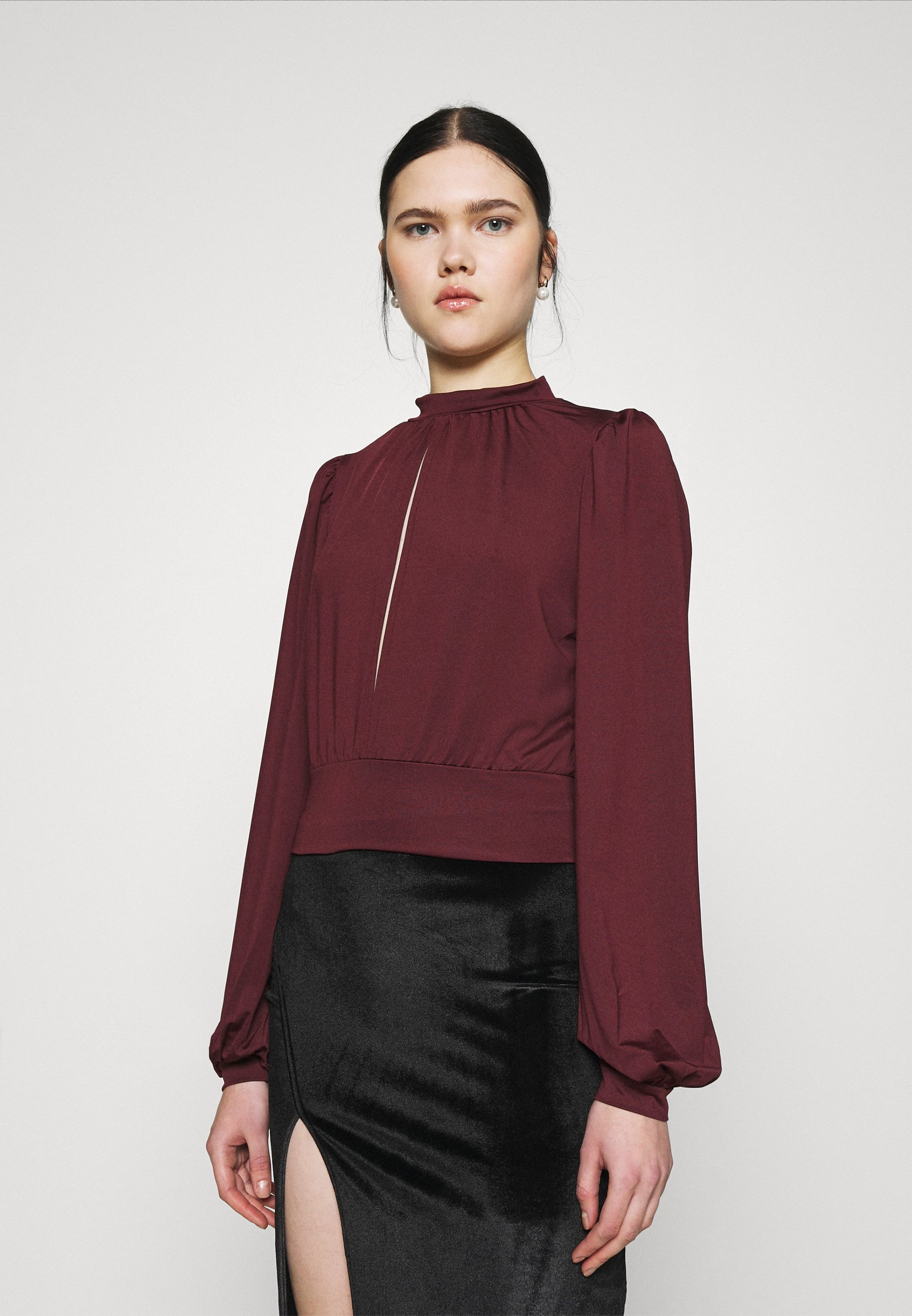 Women KEYHOLE FRONT - Long sleeved top