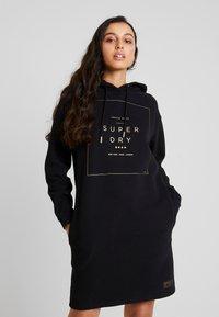 Superdry - OVERSIZED HOODED DRESS - Day dress - black - 0