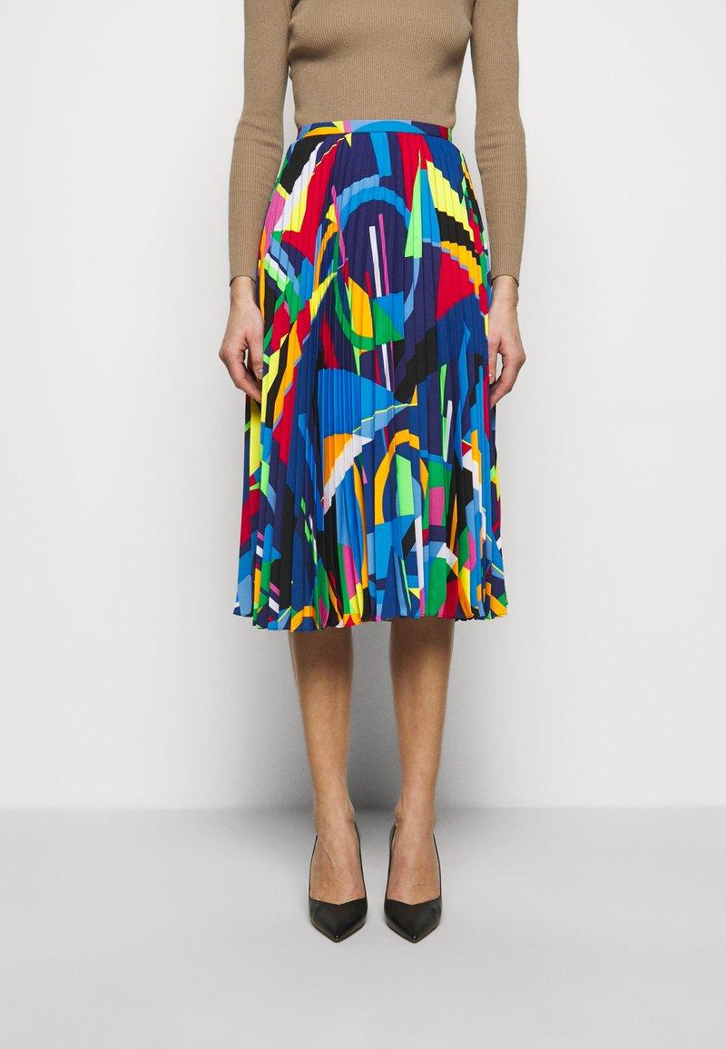 Lauren Ralph Lauren - SKIRT - Pleated skirt - black/multi