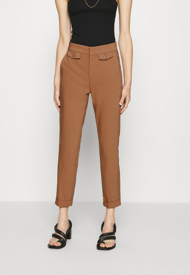 ZELLAIW TURN UP PANT - Kangashousut - beige