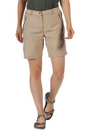 CHASKA  - Shorts - mottled beige