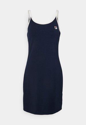 HOPE SPAGHETTI STRAP DRESS - Žerzejové šaty - black iris