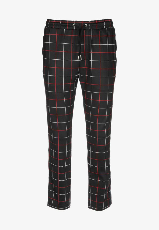 WINTA - Pantalones deportivos - black check allover