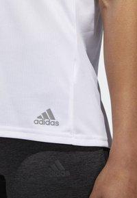 adidas Performance - RUNNING 3-STRIPES T-SHIRT - Print T-shirt - white - 2