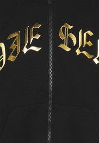 Diesel - FELPA UNISEX - Zip-up sweatshirt - black/gold - 2