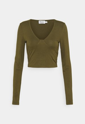 VNECK DETAIL - Maglietta a manica lunga - khaki