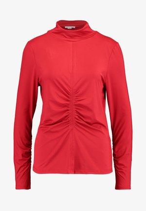 HIGH NECK RUCHED DETAIL - Bluzka z długim rękawem - fuchsia