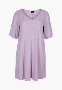 Zizzi - Jersey dress - purple rose - 3