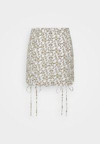 Glamorous - RUCHED MINI SKIRT WITH FRONT TIE DETAILS - Minisukně - linear floral - 1