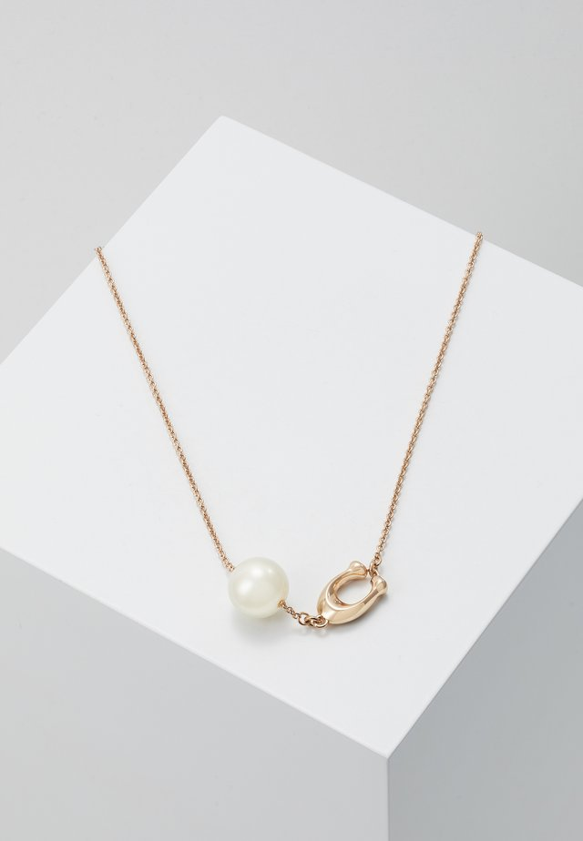 SCULPTED NECKLACE - Collana - rose gold-coloured