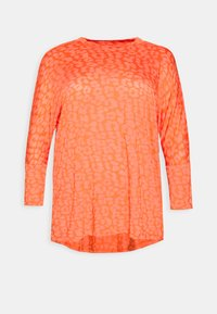CAPSULE by Simply Be - BURNOUT BOXY  - Long sleeved top - coral - 4