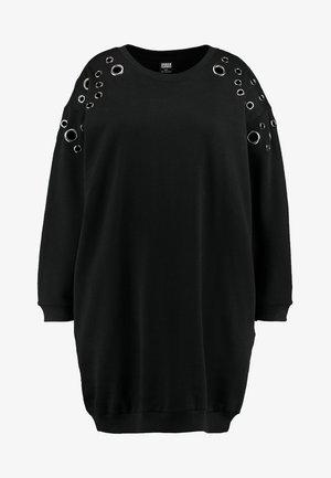 LADIES EYELET DRESS - Jumper dress - black