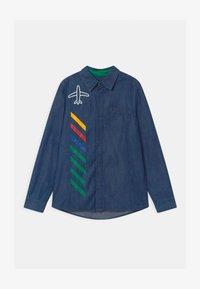 Benetton - EUROPE BOY - Shirt - blue denim - 0