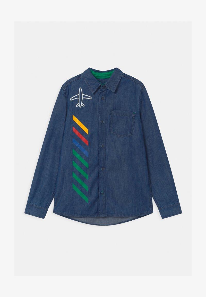 Benetton - EUROPE BOY - Shirt - blue denim