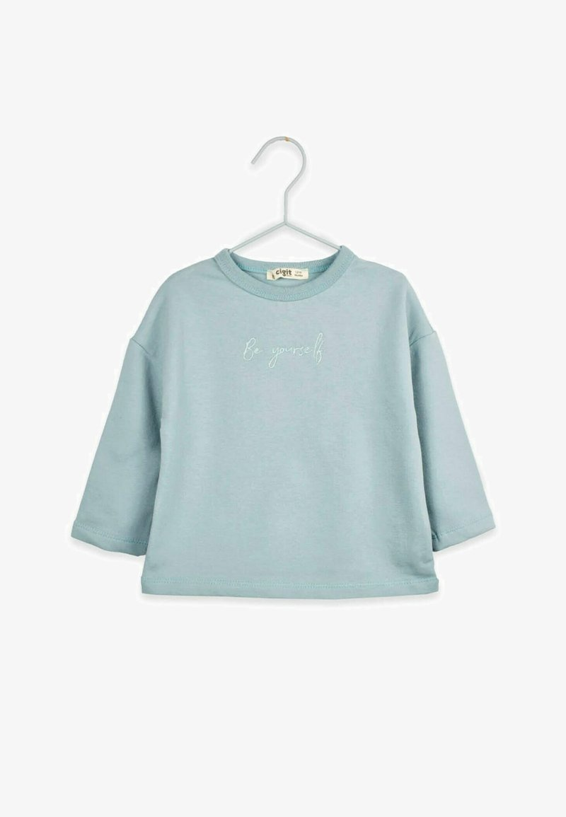 Cigit - BE YOURSELF - Long sleeved top - turquoise