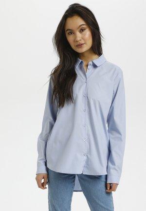 Button-down blouse - chambray blue