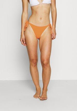HI LEG TIE SHIRRED PANT - Bikini bottoms - mango