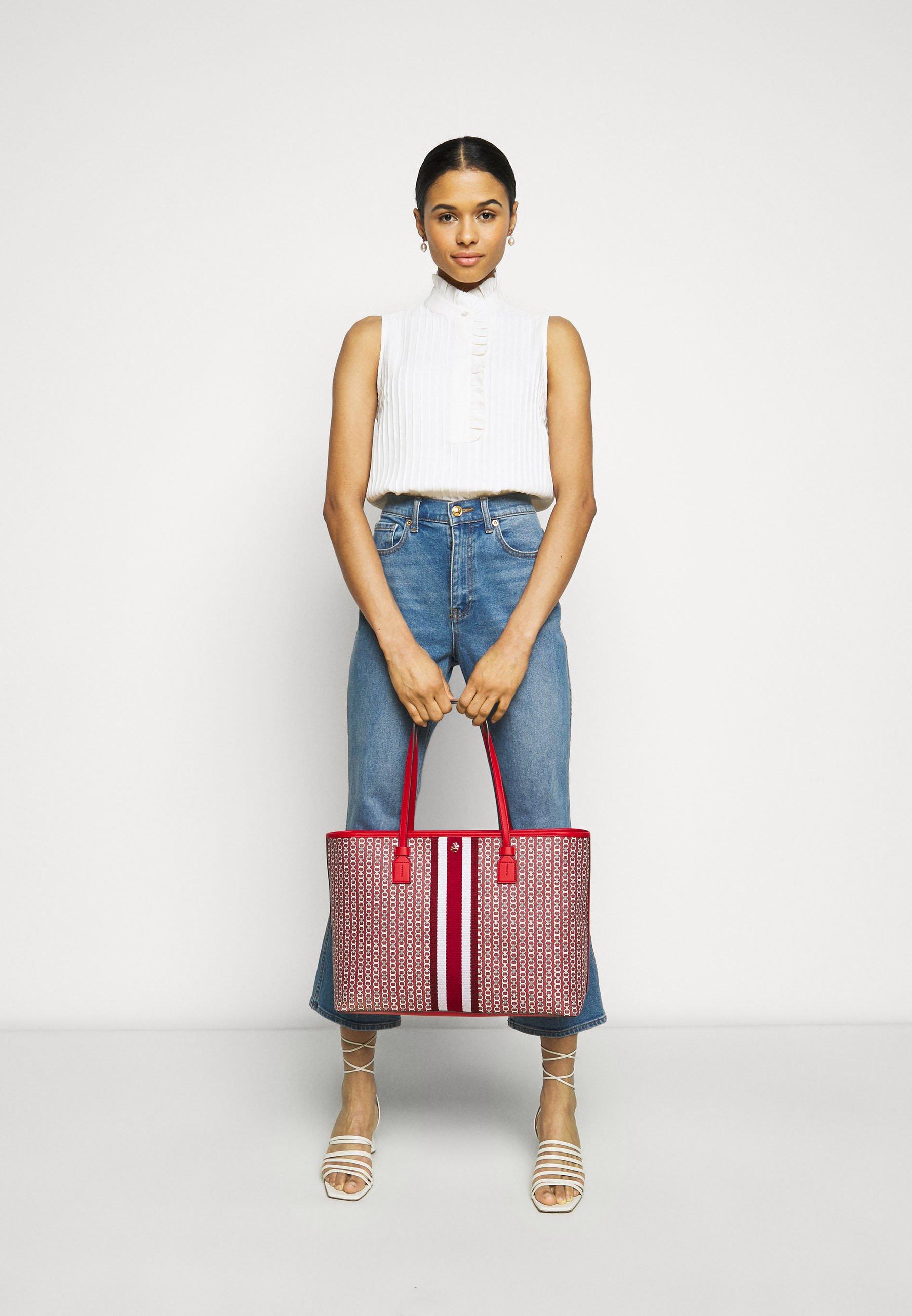 Women GEMINI LINK ZIP TOTE - Tote bag - dutch red