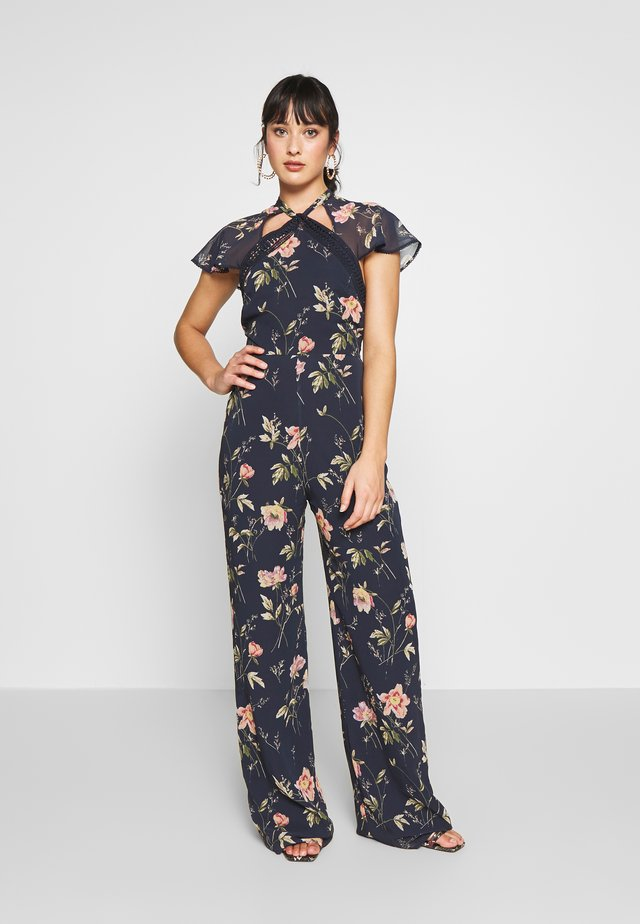 Tuta jumpsuit - dark blue floral