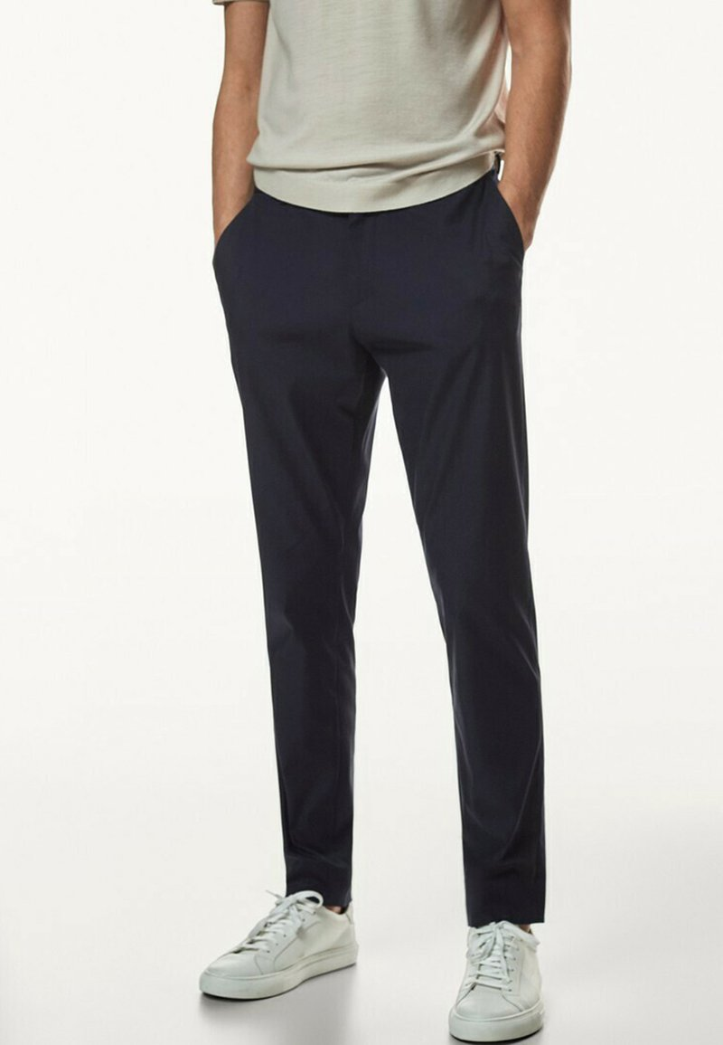 Massimo Dutti - Trousers - blue-black denim