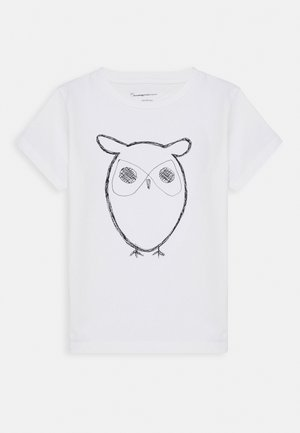 FLAX OWL - T-shirt con stampa - white