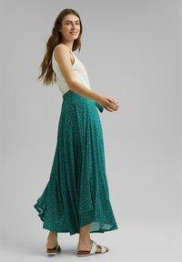 Esprit - Maxi skirt - teal green - 1