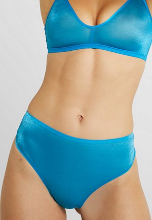 HIGH WAIST THONG - Tanga - blue jewel