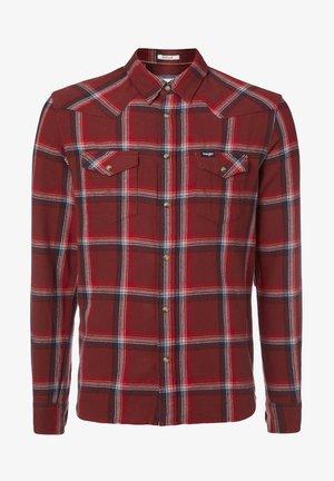 LS WESTERN - Shirt - rusty brown