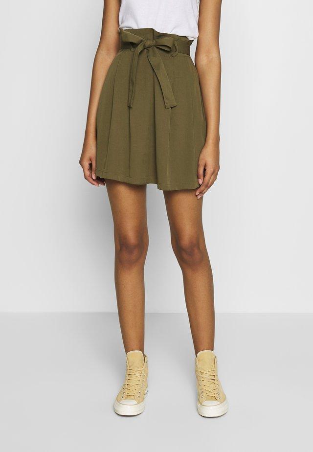 VIVERO SHORT SKIRT - A-line skirt - dark olive
