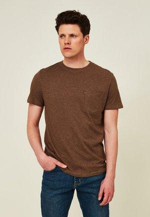 TRAVIS ORGANIC TEE - Basic T-shirt - brown melange