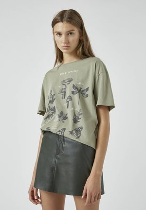 T-shirt z nadrukiem - dark green