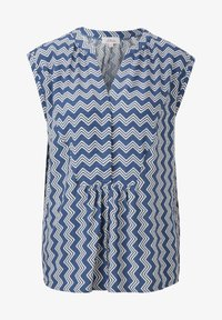 s.Oliver - Blouse - faded blue zic zac stripes - 4